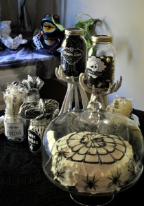 Yummy black and white treats! And my first time successfully making a layer cake.