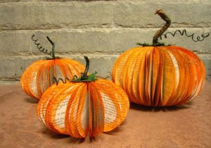 You know I love reusing interesting materials, and these lovely book pumpkins from Sunshineatheart you can keep out all season long.