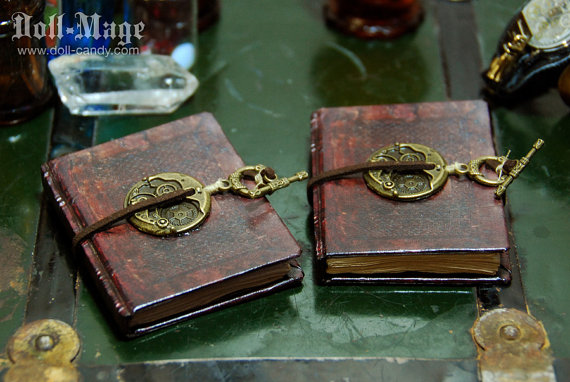 These doll sized tiny magical tomes are by Doll Candy