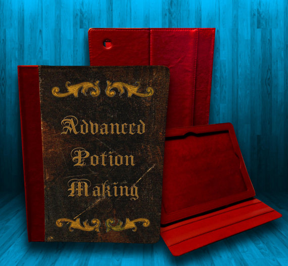 Who says the modern witch or wizard needs huge magic tomes? With modern technology, how about this iPad case from CustomizeMeAZ?