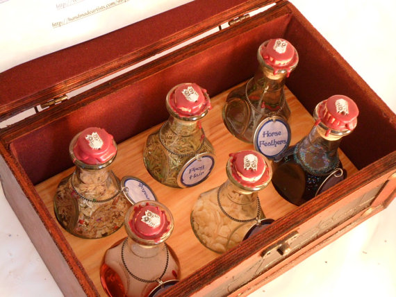 This potion kit from Cabochon Persnickety would look great with my new collection of potion bottles.