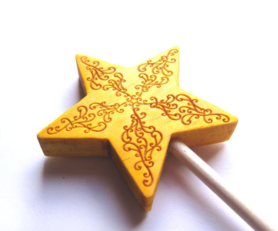 This beautiful take on a classic kids star wand was made by 3 Princesses Store