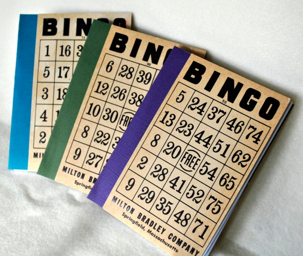 120 Page Blank Books with Vintage Bingo Covers
