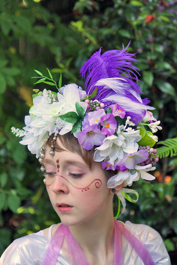 I would feel fantastic in this floral fairy crown by The Silver Thicket.