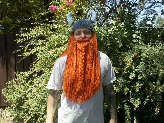 Stay warm and silly with this Viking beard and hat from OurLittleThingsStore.