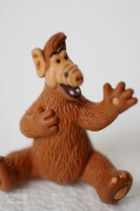 "As much as I cringe slightly that my childhood is now considered ""vintage,"" I love this ALF toy from Abate Arts."